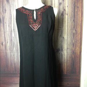 Motherhood Maternity Sleeveless Black Dress Size M
